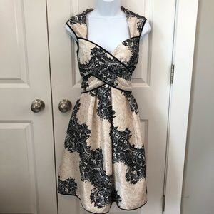 Jessica Simpson Lace Print Satin Dress